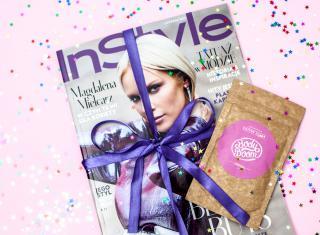 okładka gazety Instyle oraz nagrodzony kosmetyk w plebiscycie best beauty buys 2017