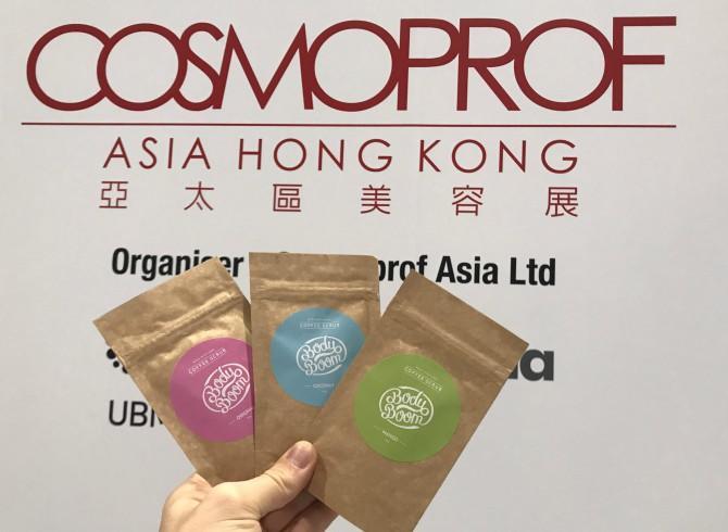polska firma kosmetyczna podczas targów cosmoproof w honkongu