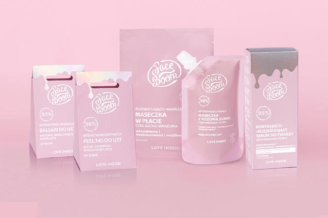 Różowe produkty do pielęgnacji twarzy FaceBoom