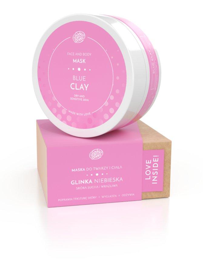 Biały plastikowy słoiczek z różową etykietą